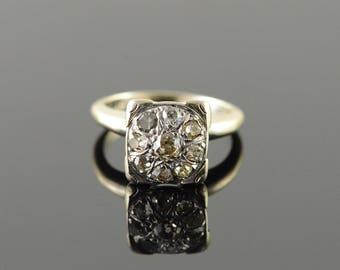 14k Vintage 0.75 CTW Diamond Cluster Ring Gold