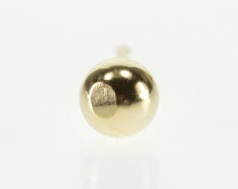 14k Classic Ball Stud Post Back Round Sphere Earring Gold