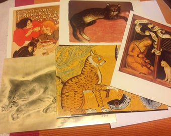 Vintage Postcard Paintings - Cat Art Reproductions-  Metropolitan Museum of Art- Artsy - Collectible