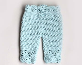 Crochet Pattern, Crochet Baby Pants Pattern, Crochet Baby Clothes Pattern, Crochet Pants for Newborn Baby Girl