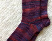Wool socks,  Hand Cranked Wool Socks, Hand Made Wool Socks, Knit Wool Socks, Women's Socks, Teen Socks, Boy's  Wool Men's Socks Women 9-10
