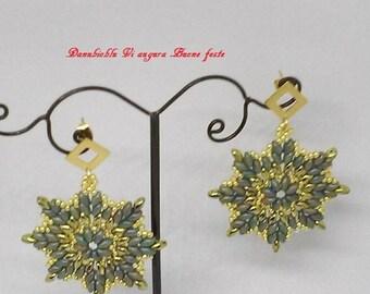 Hand-made pendant earrings