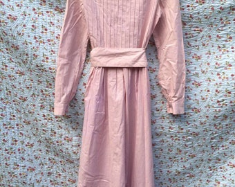 Pink Victorian dress by Laura Ashley