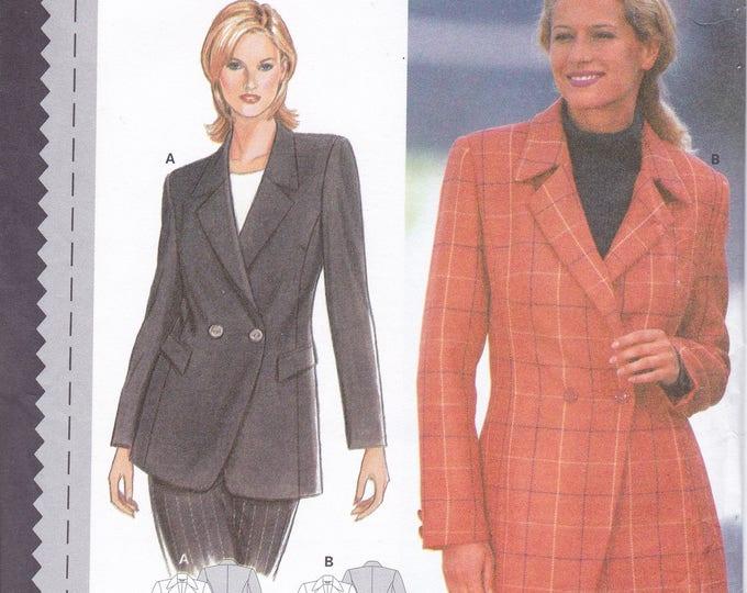 FREE US SHIP Sewing Pattern Burda 3094 Size 10 12 14 16 18 20 Bust 32 34 36 38 40 42 Plus UncutPrincess Seams Jacket Hip length