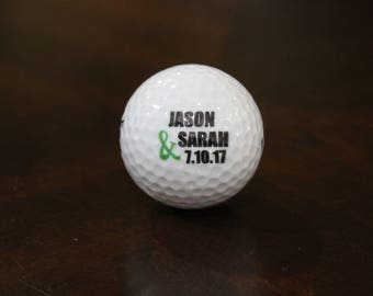 Personalized Golf Ball, Wedding Day Gift,Color Printed Golf Balls, Wedding Custom Golf Ball, Christmas Gift