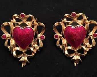 Avon Heart Earrings