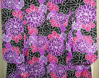 Chrysanthemum furisode Traditional Japanese kimono
