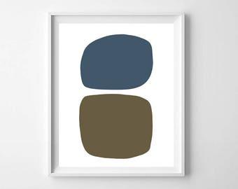 Geometric abstract, Printable Art, Mid Century Print, Scandinavian decor, Mid century modern art, Minimalist poster, Abstract Modern Print