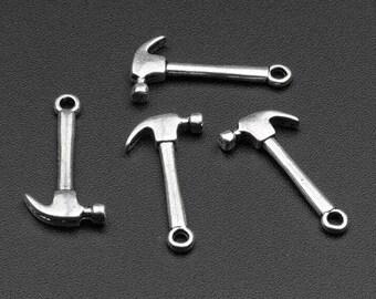 10 charms antique hammer pendants 25 x 13 mm