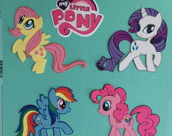 My Little Pony scrapbook page die cuts embellishments