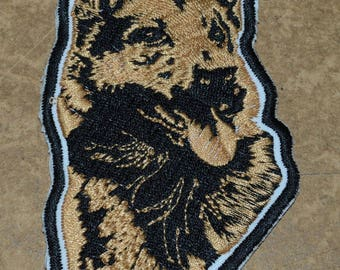 patch, embroidered with dog