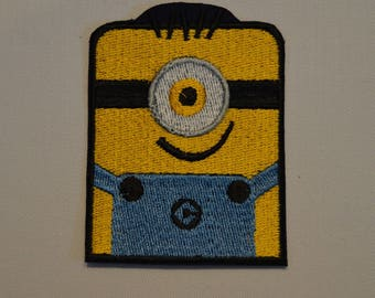 cartoon minion embroidered patch