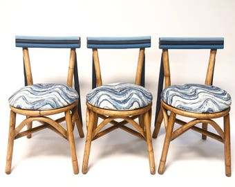Ocean Wave Kitchen Chairs- Set of 3