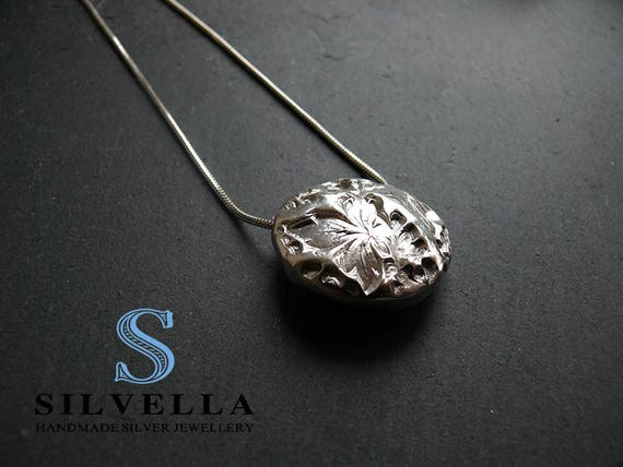Luxury Silver Necklace - Solid Silver Hollow Bead Necklace - Hallmarked at the London Assay Office - Gift for Her