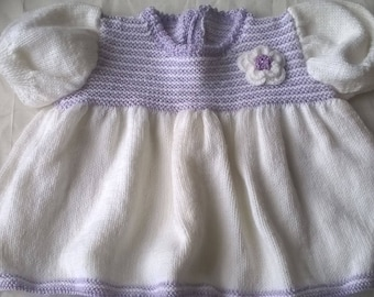 Hand knitted baby dress