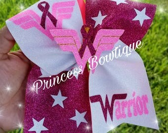 Cancer awareness bows,  wonder woman bows, wonder woman cancer,  cancer wonder woman bow, pink bows