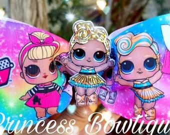 Lol surprise bows, lol surprise, lol surprise bow, hair bows, bowtie