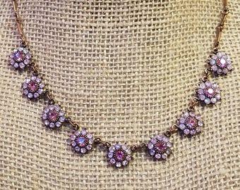 Vintage Avon copper flower necklace, flower necklace, avon necklace, avon, vintage avon