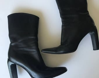 Vintage Gucci Leather Boots (size 7.5)