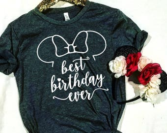 Disney Inspired Birthday Vacation Shirt, Disney Princess Shirt, Disney Tshirt