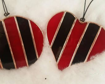 Five stripes suncatcher Christmas ornament Tiffany stained glass Atlanta United