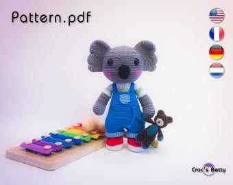 Pattern - Kalypso, little Koala and his Teddy Bear