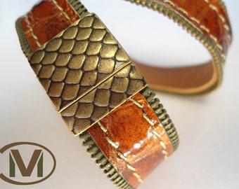 Double wrap leather bracelet : ZIPPLEA