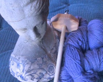 Louet Top Whorl Octagon Drop Spindle Plus Fiber for Spinning