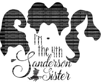 Fourth Sanderson Sister Oh Look, Another Glorious Morning SVG Files I put a spell on you Halloween svg file Hocus Pocus Silhouette Circuit