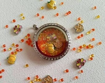 Fall/ Thanksgiving theme Stainless steel lockets