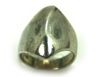 Vintage chunky Ring, modernist Mid Century ring, Silver Ring, Boho ring, Band Ring, Tribal ring, Modern Ring, minimalist ring,Statement Ring