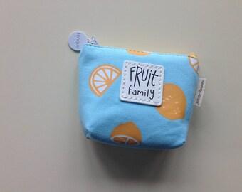 Fruit Coin Purse - Blue Orange