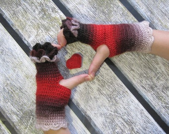 Crochet Fingerless Gloves dragon scales wrist warmers accessories texting gloves festival wear gloves ladies gloves touchscreen gloves gift