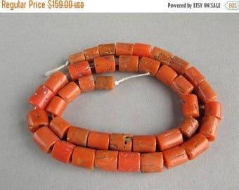 Summer Sale Antique Mediterranean Coral beads , Natural Coral, Jewelry coral, Coral beads, Old Coral necklace, Natural color