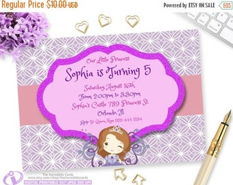 50% OFF SALE Princess Sofia Birthday Invitation, Princess Sofia Party, Princess Sofia Printable Invitation, Princess Sofia, Disney Sofia, Pr