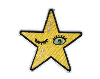 Cute Star Embroidered Applique Iron on Patch