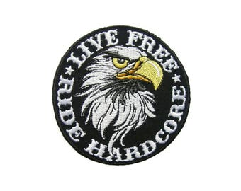 Eagle Rider Biker Embroidered Applique Iron on Patch