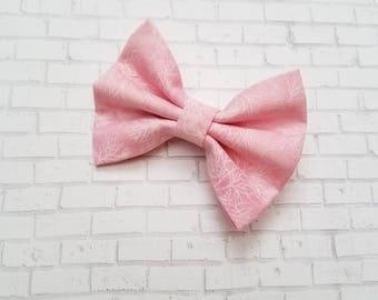Small Pink Hair Bow, Girls Pink Fabric Hair Bow, Pink Mini Hair Bow, Baby Hair Bow, Toddler Hair Bow, Girls Hair Clip, Girls Barrette