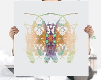 Ink Print | Ink Blot | Psychiatrist Gift | Psychology Art | Extra Large Wall Art | Rorschach Art Print | Instant Download | Therapist Gift