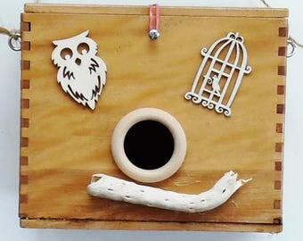 Middle Size Canister Birdhouse * Refurbished