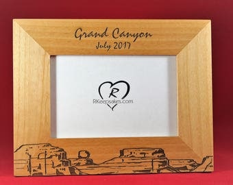 Grand Canyon Engraved Frame, Any Text