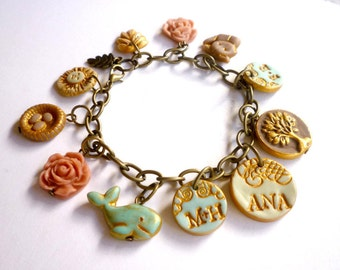 18 Years Old Birthday Present - Custom Charm Bracelet - Sweet Sixteen gift- Animal lover gift
