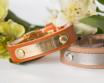 signatur bracelet, personalised bracelet, leather bracelet, mother's day, mom to be, engraved bracelet, personalized jewelry, mother day