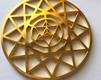 Metatron's MerKaBa Protection Tool Gold 24K Plated - Sacred Geometry - Meditation Tool - Merkaba - Metatron - Energy Tool