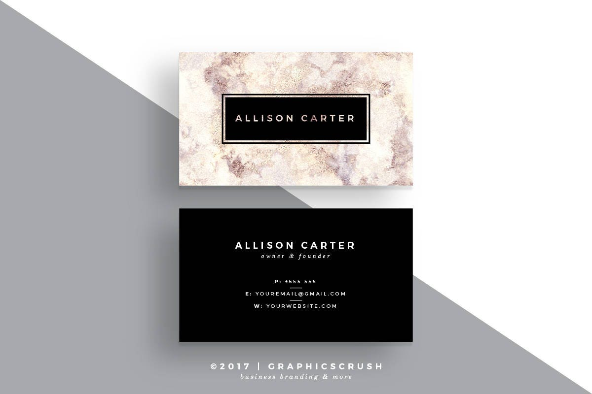 Marble Business Card Design Black Business Card Luxurious Business ...