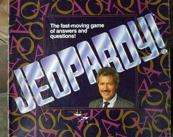 1992 Vintage Jeopardy Game  Fast Moving Question and Answer Trivia Game Alex Trebek