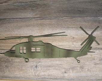 Blackhawk Military Helicopter wall art