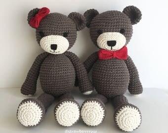 Amigurumi Crochet Teddy Bear (only MALE available)
