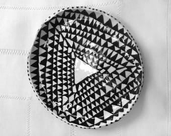 """Black and White Triangles Plate 7"""""""