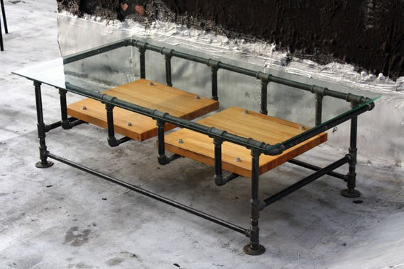 Black Metal And Glass Office Furniture
